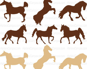 340x270 Silhouette Horse Etsy