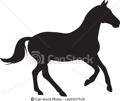 400x339 Horse Silhouette Vector Applique Quilts