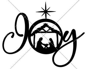 340x270 Nativity Scene Svg Etsy
