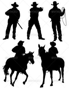 236x302 Cowboy Silhouette Cowboys, Silhouettes And Vinyl Designs