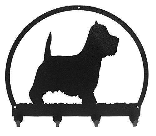 500x437 Black Metal Dog Leash Or Key Rack Silhouette Of A Westie Gift Idea