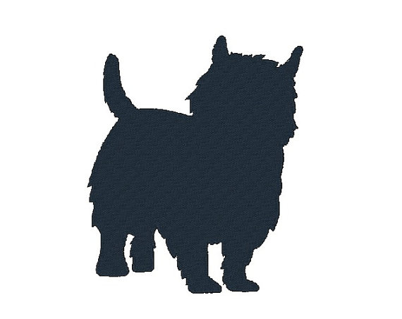 570x452 Westie Silhouette Embroidery Design Dog Embroidery Designs