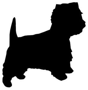 293x300 Westie Silhouette Mild Steel, For Weathervanes Or Features