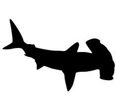 236x202 Printable Shark Silhouette