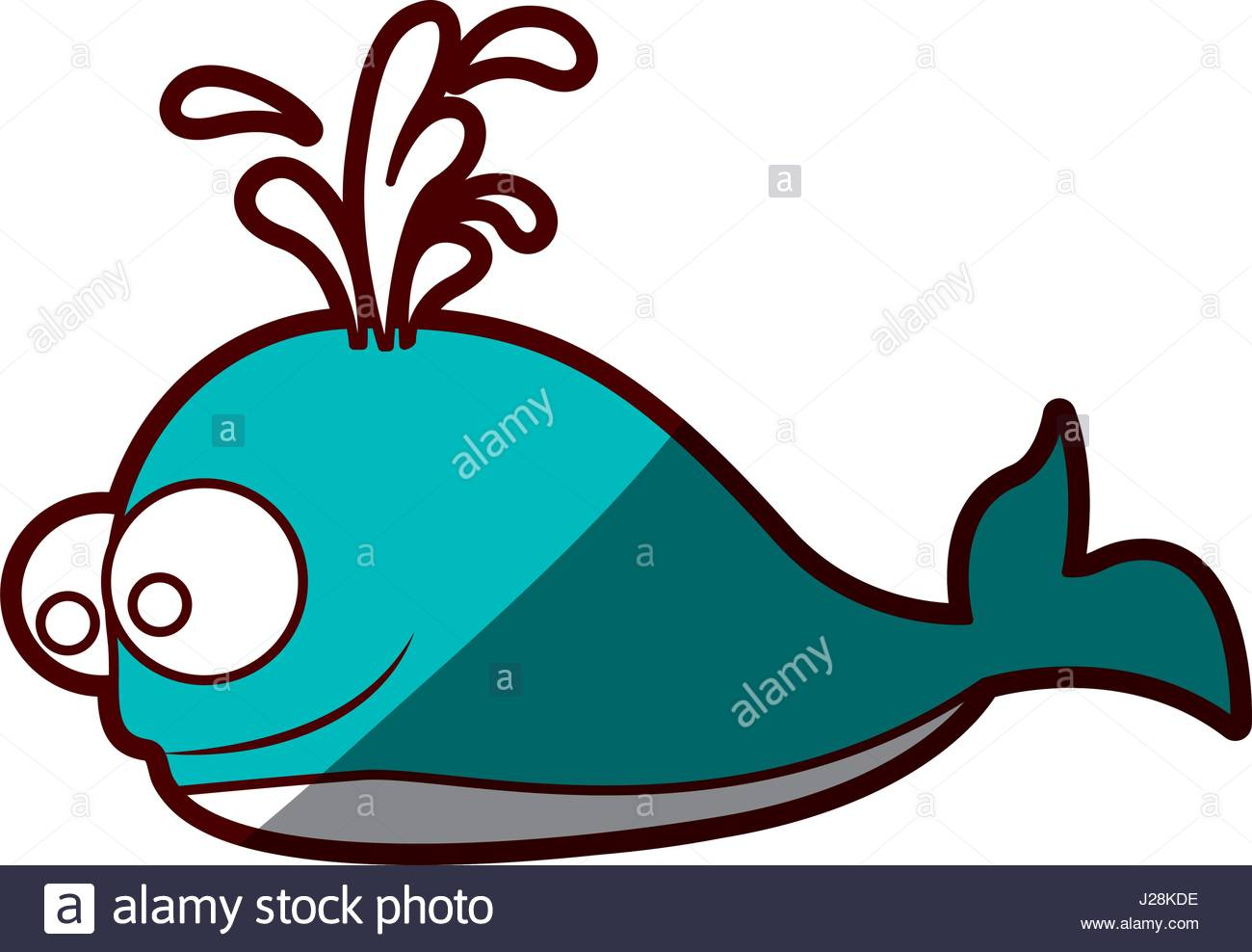 1300x988 Silhouette Color Blue Of Whale And Water Jet Stock Vector Art