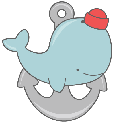 432x432 Whale With Anchor Svg Cut Files For Scrapbooking Silhouette Cut