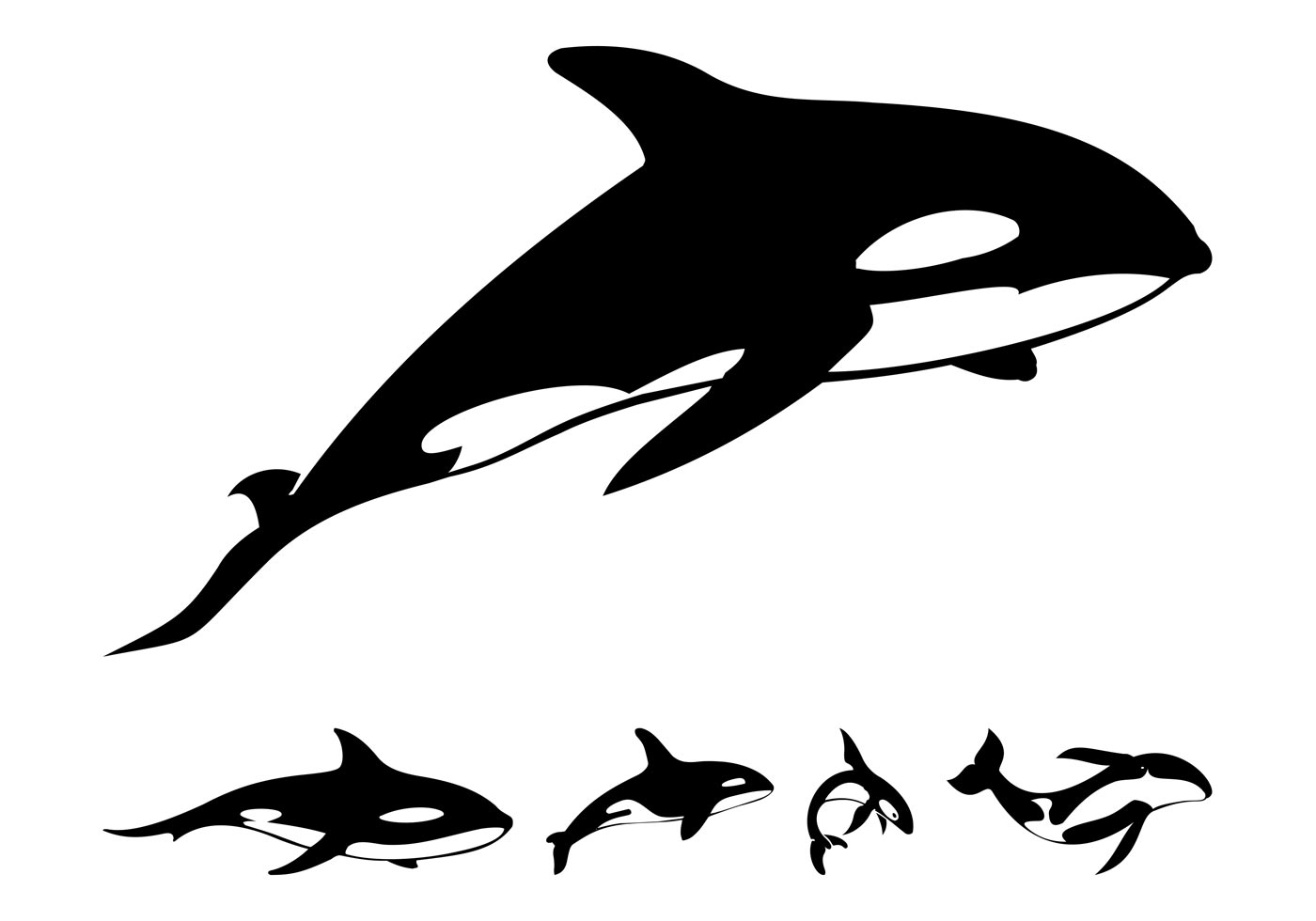 1400x980 Whale Silhouette Free Vector Art