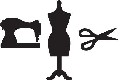 406x273 Dress Form Silhouette Clip Art