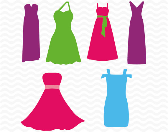 570x450 Dress Svg, Dxf, Eps, Cutting Files For Use With Silhouette Cameo