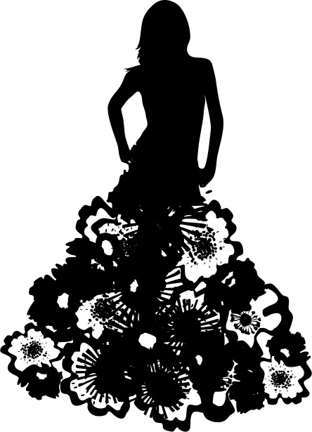 444x615 Model Silhouette Dress Couture Free Stock Photo