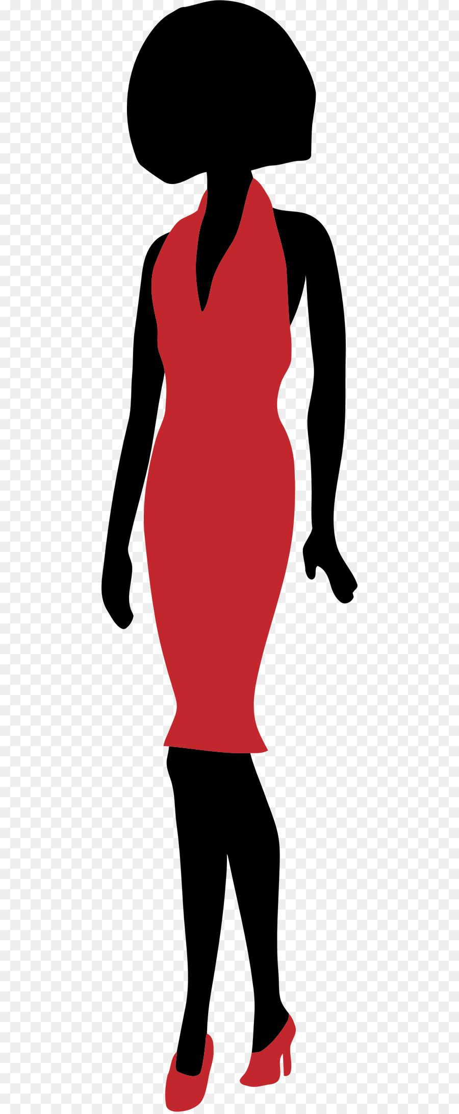 900x2180 Silhouette Dress Woman
