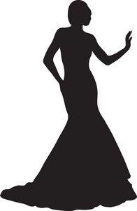 196x300 Black Dress Clipart Elegant Lady