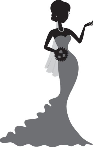 323x510 Bridal Gown Silhouettes Clipart