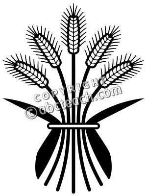 300x400 Wheat Silhouette Clipart