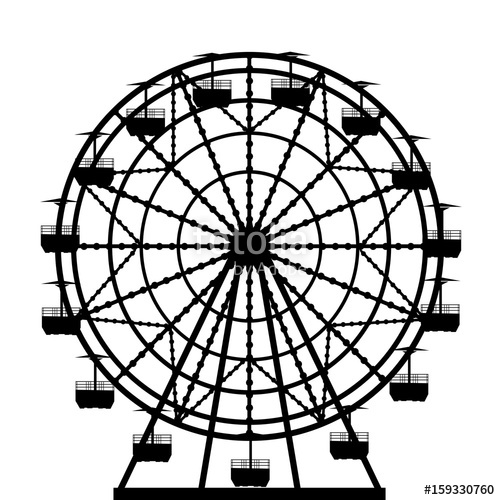 500x500 Ferris Wheel Silhouette Stock Image And Royalty Free Vector Files