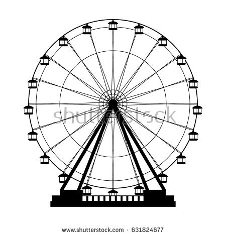 450x470 Ferris Wheel Silhouette Clip Art Clipart Collection