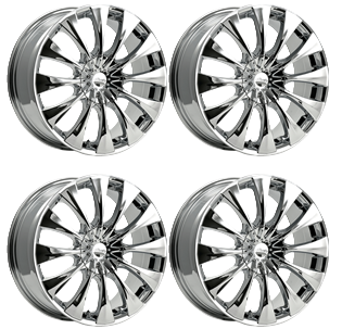 315x303 Pacer 776c Silhouette 776c 2855540 Set 4 Rims 20x8.5 +40mm Offset