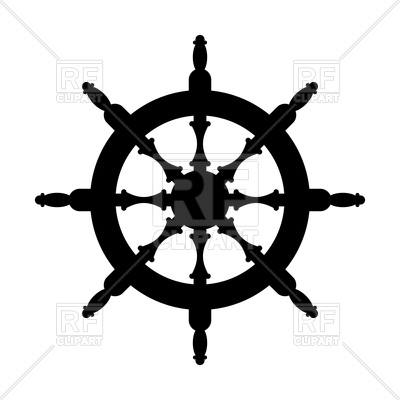 400x400 Steering Wheel Silhouette Isolated Royalty Free Vector Clip Art