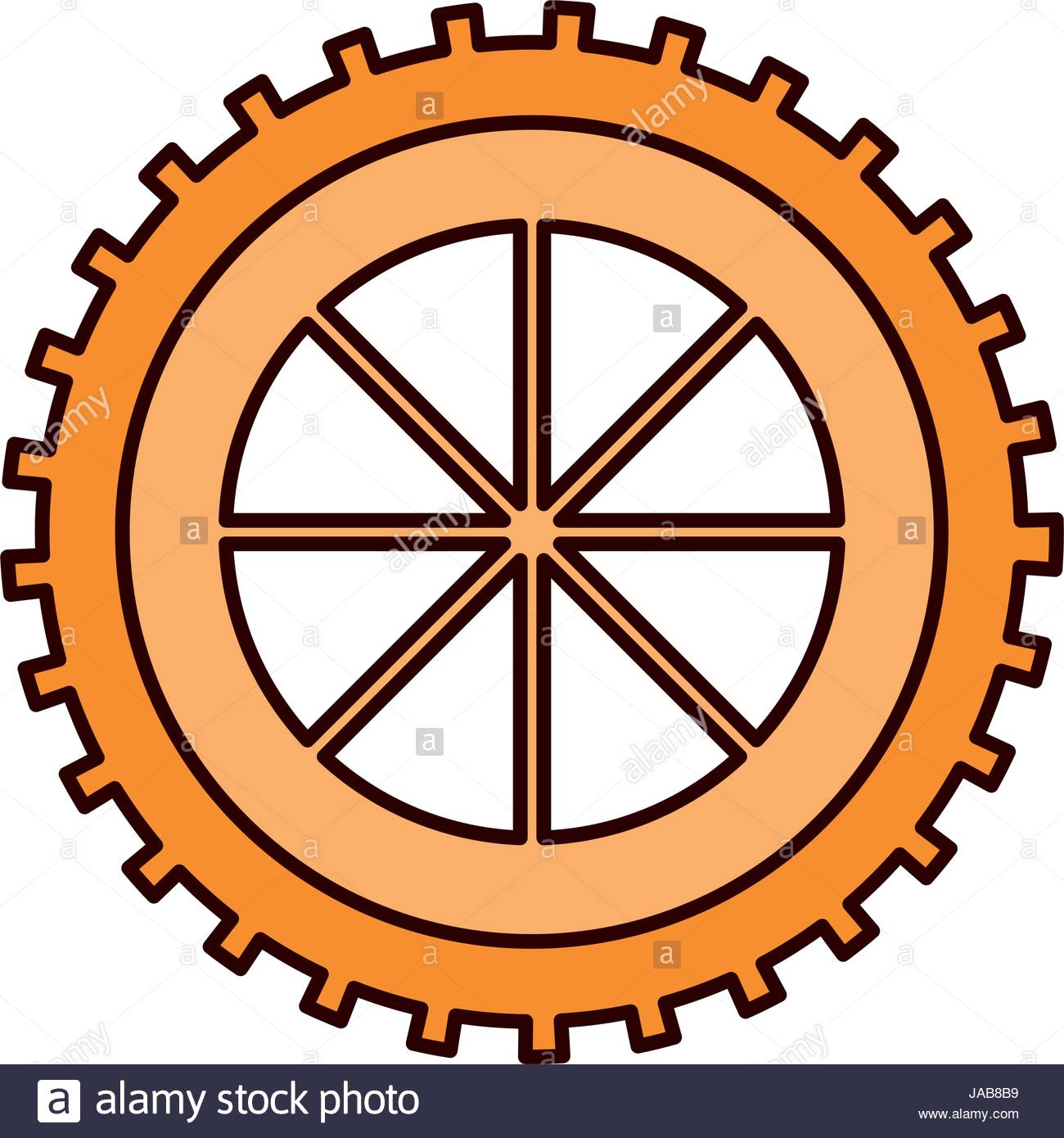 1300x1390 Color Sketch Silhouette Gear Wheel Component Icon Stock Vector Art