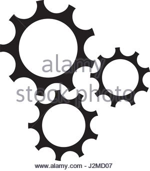 300x341 Silhouette Of Gear Wheel Power Transmission Icon Over White Stock