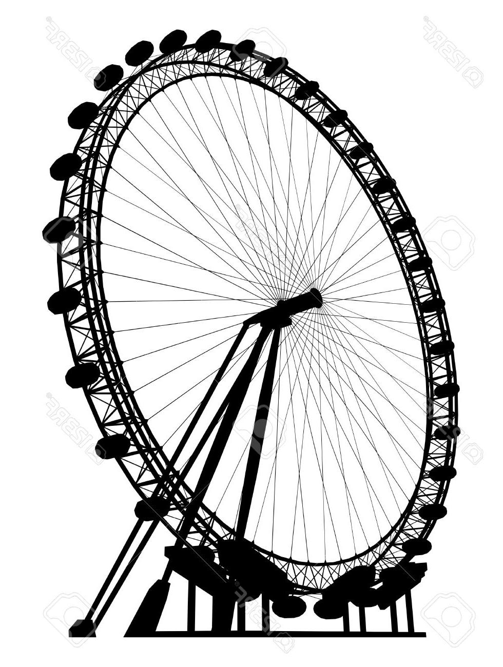 980x1300 Best 15 Ferris Wheel Clipart Silhouette Library