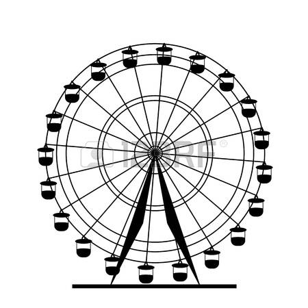 450x450 Drawn Ferris Wheel Silhouette