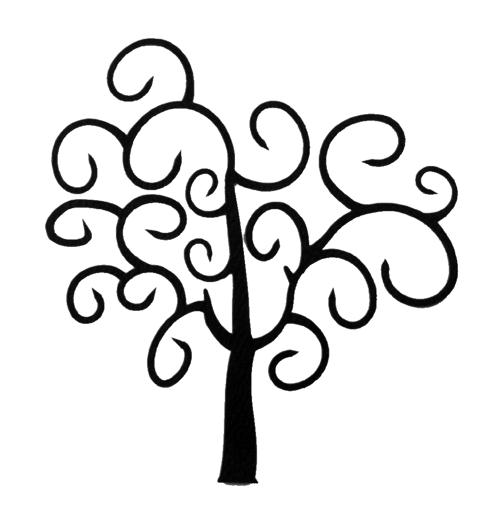 1000x1050 Swirly Tree Cliparts