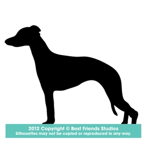 300x300 Whippet Dog Silhouette Gifts, Stationery, Address Labels Amp Note
