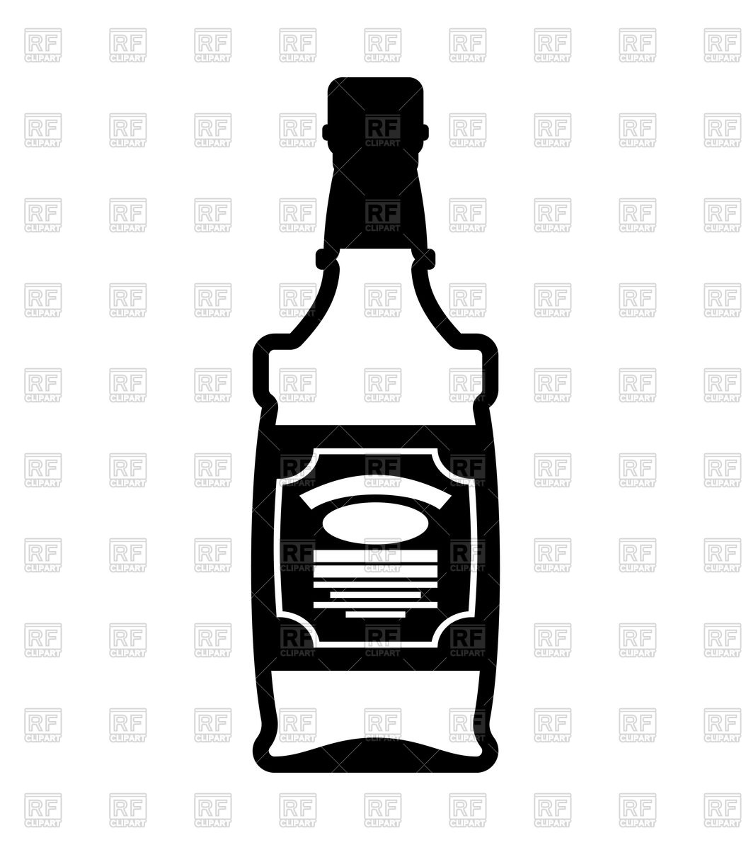 1061x1200 Bottle Of Whiskey Icon Royalty Free Vector Clip Art Image