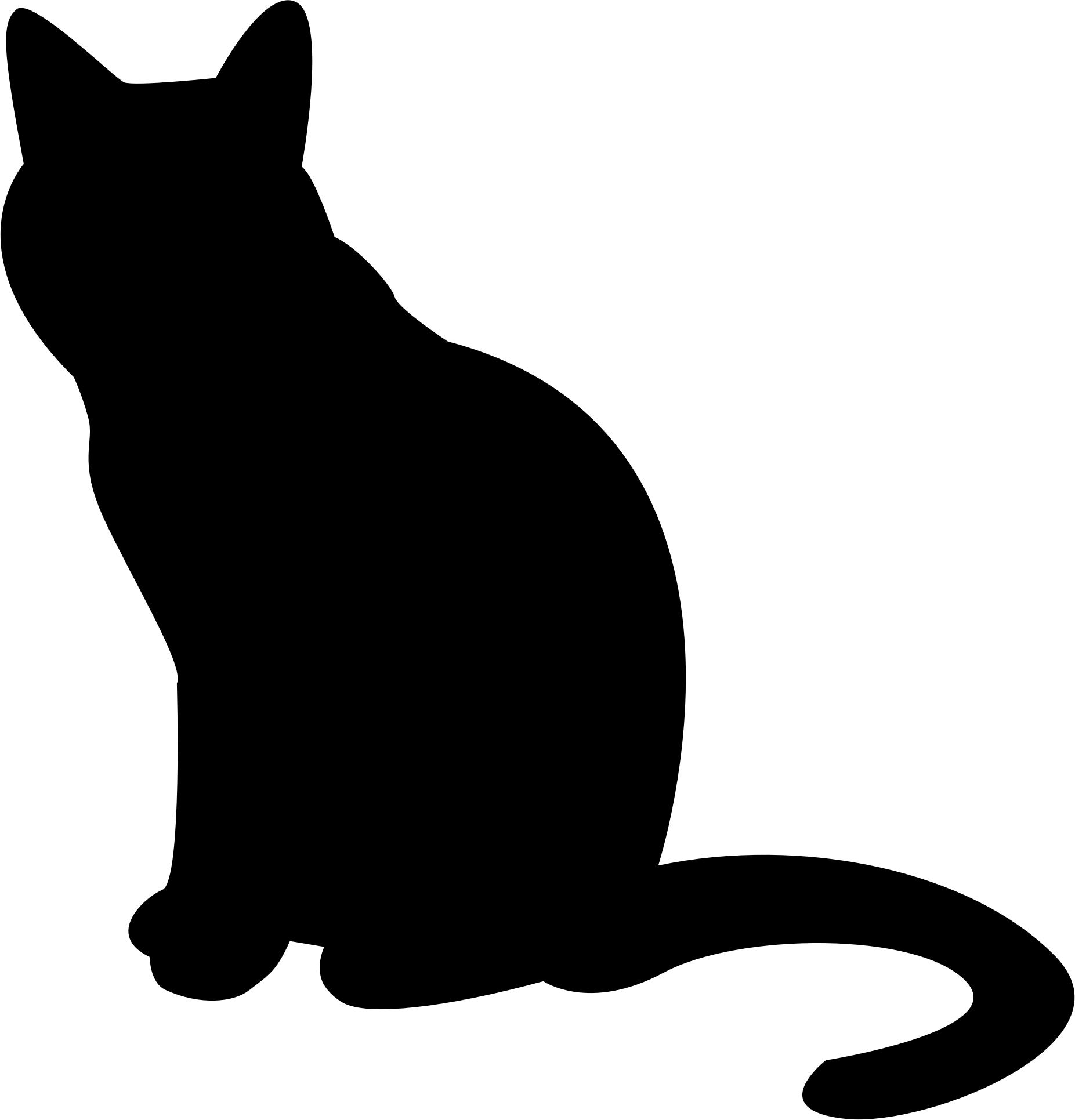 1853x1931 Free Cat Silhouette Icons Png, Cat S Lhouette Images