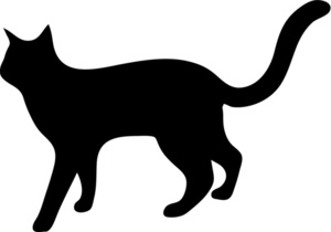 300x210 And White Clipart Cat Silhouette