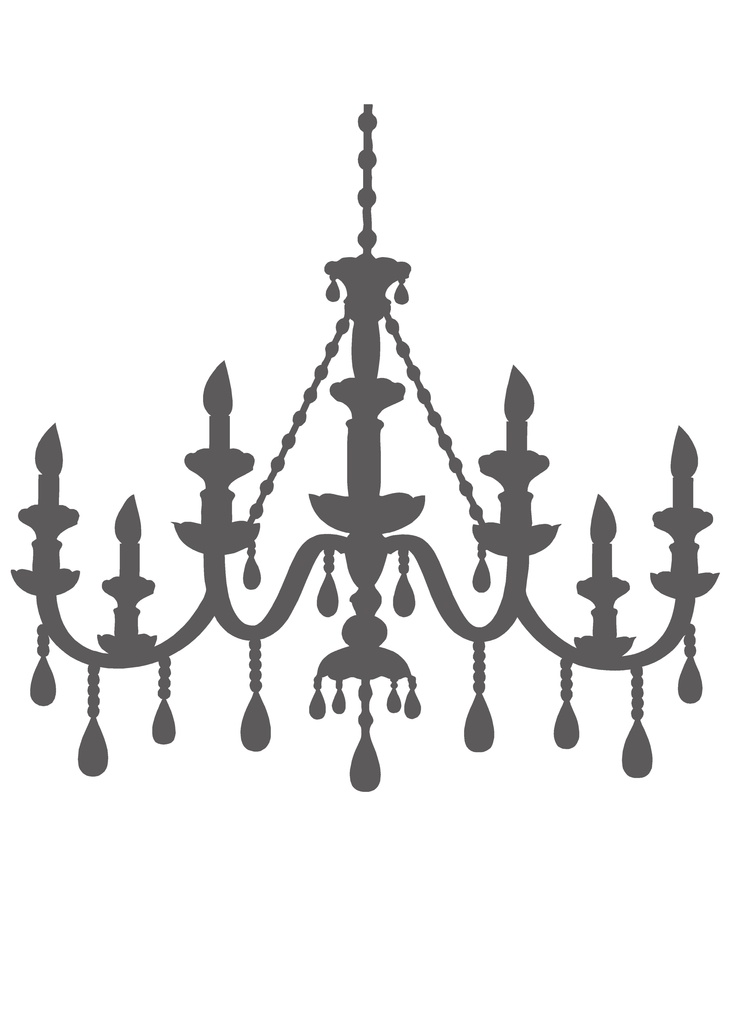 736x1030 18 Images Of Vistaprint Chandelier Silhouette Template