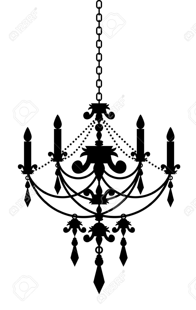 White chandelier silhouette at getdrawings free for personal 822x1300 chandelier clipart silhouette aloadofball Images
