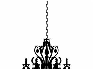 310x233 Antique Chandelier Silhouettes Free Vectors Ui Download