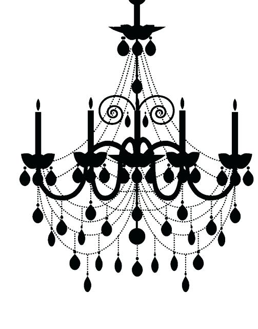 503x640 Silhouette Chandelier As Well As Chandelier Silhouette Cameo 4