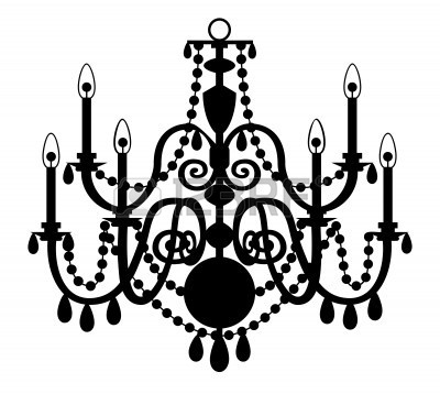 400x358 White Chandelier Drawing Lamps Ideas