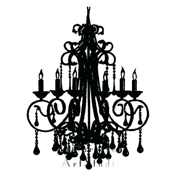 600x600 Black And White Chandelier Print