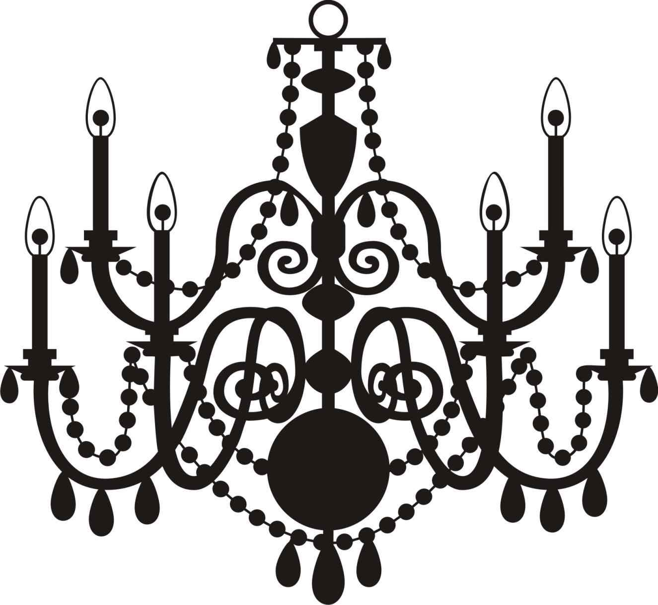 White chandelier silhouette at getdrawings free for personal 1325x1219 chandelier silhouette clip art jescatfo aloadofball Images