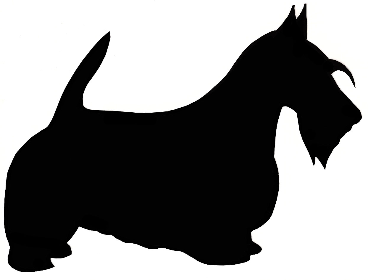 1244x947 Yorkies Clipart Dog Silhouette
