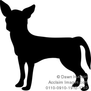 299x300 Clever Chihuahua Clipart Silhouette Of A Dog Stock Photography