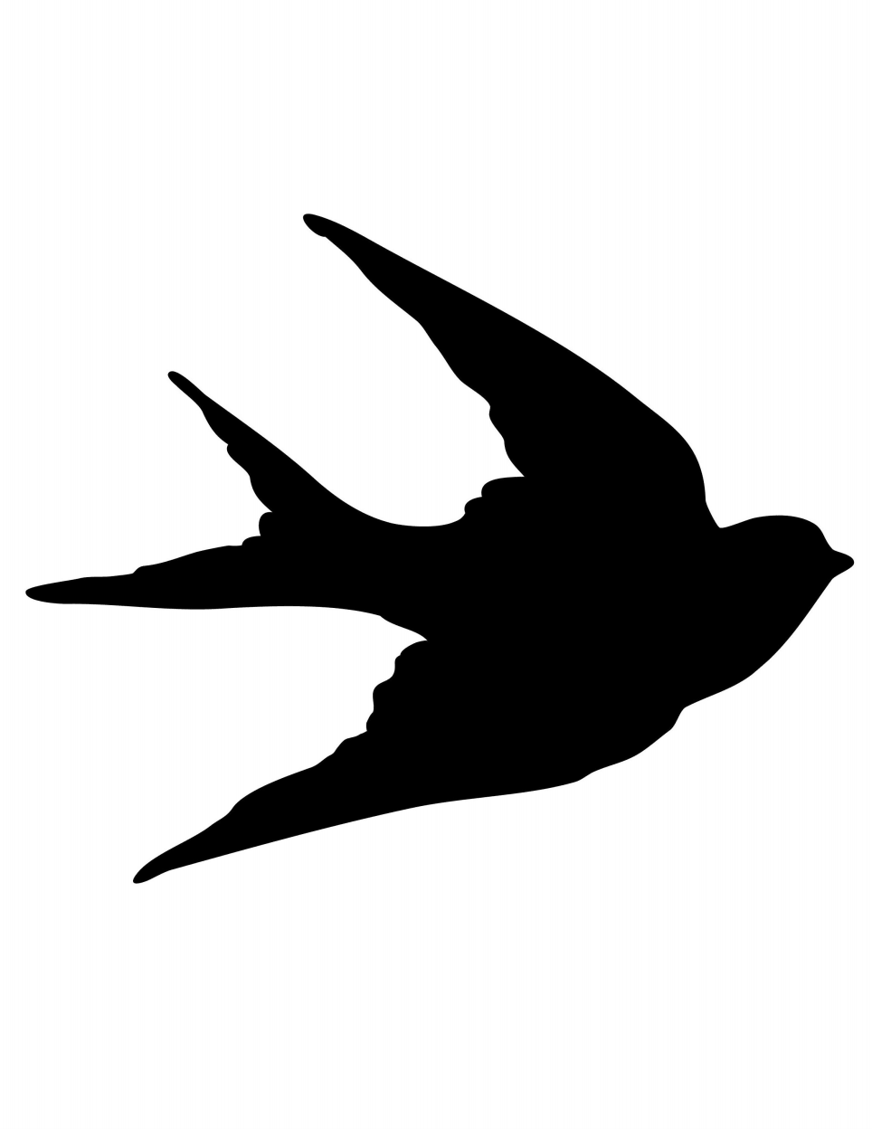 964x1248 Swallow Silhouette Printable Graphicsfairy.pdf Diy Projects