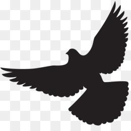 260x260 Dove In Flight Silhouette