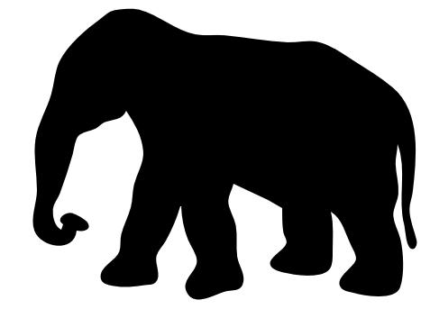 477x343 Free Elephant Silhouette Clipart, 1 Page Of Public Domain Clip Art
