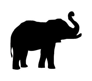 355x312 Elephant Animal White Decal Car Truck Bumper Window