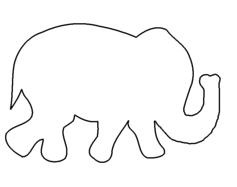 759x599 Free Elephant Templates When I First Started Looking Up Patterns