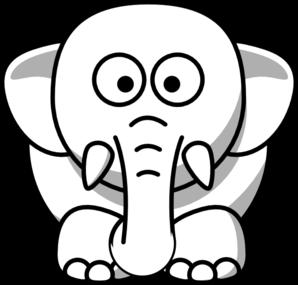 298x285 White Elephant Clip Art