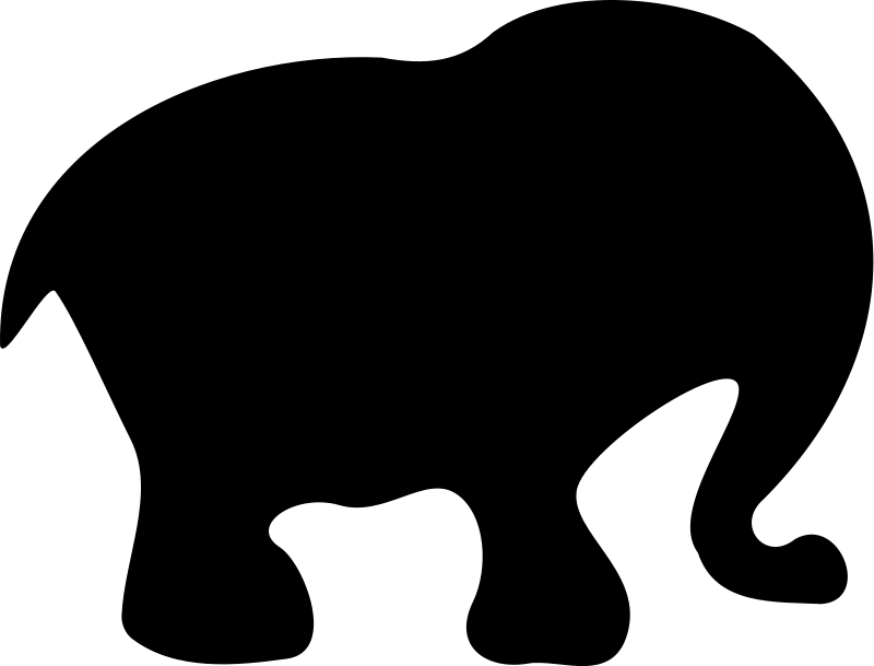 800x609 Cartoon Elephant Silhouette Free Vector 4vector