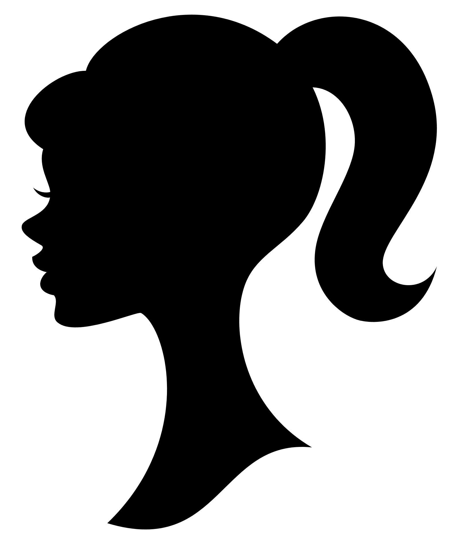 1600x1900 Barbie Clipart Head Silhouette