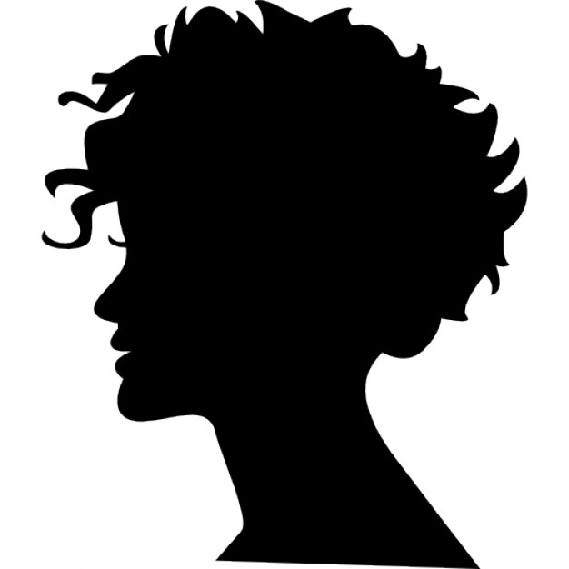 626x626 Woman Head Silhouette With Short Hair Icons Free Download