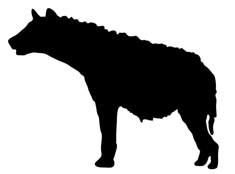 1000x742 Hyena Head Silhouette Clipart